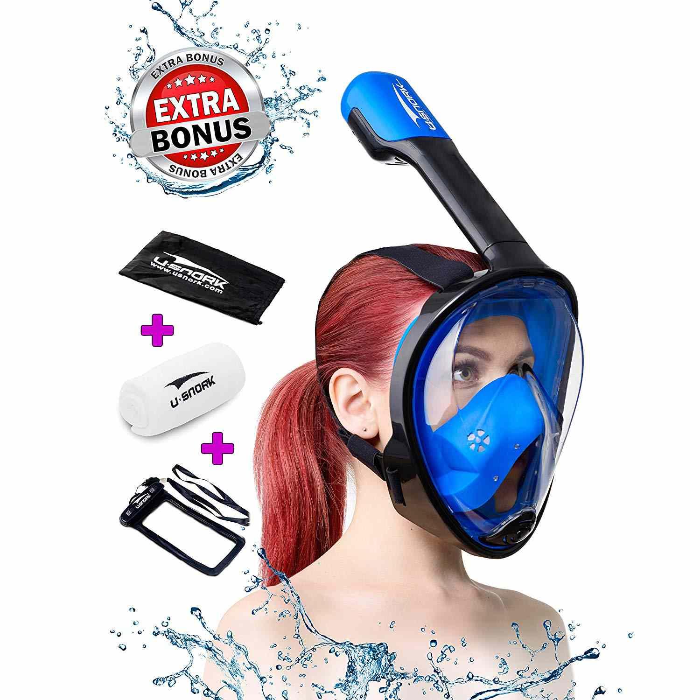 Usnork Full Face Snorkel Mask