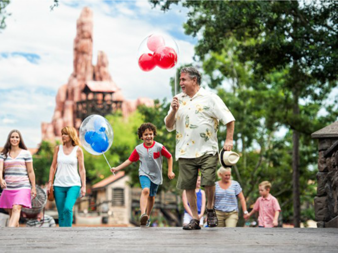 Abuelos y nietos en Disney World