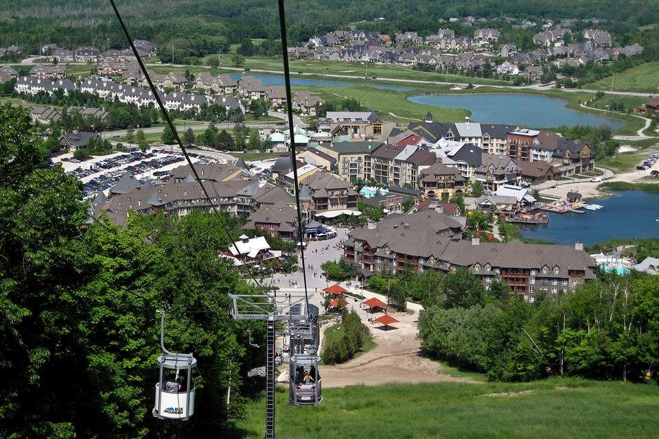Blue Mountain Ski Resort in Collingwood, Ontario, Canada