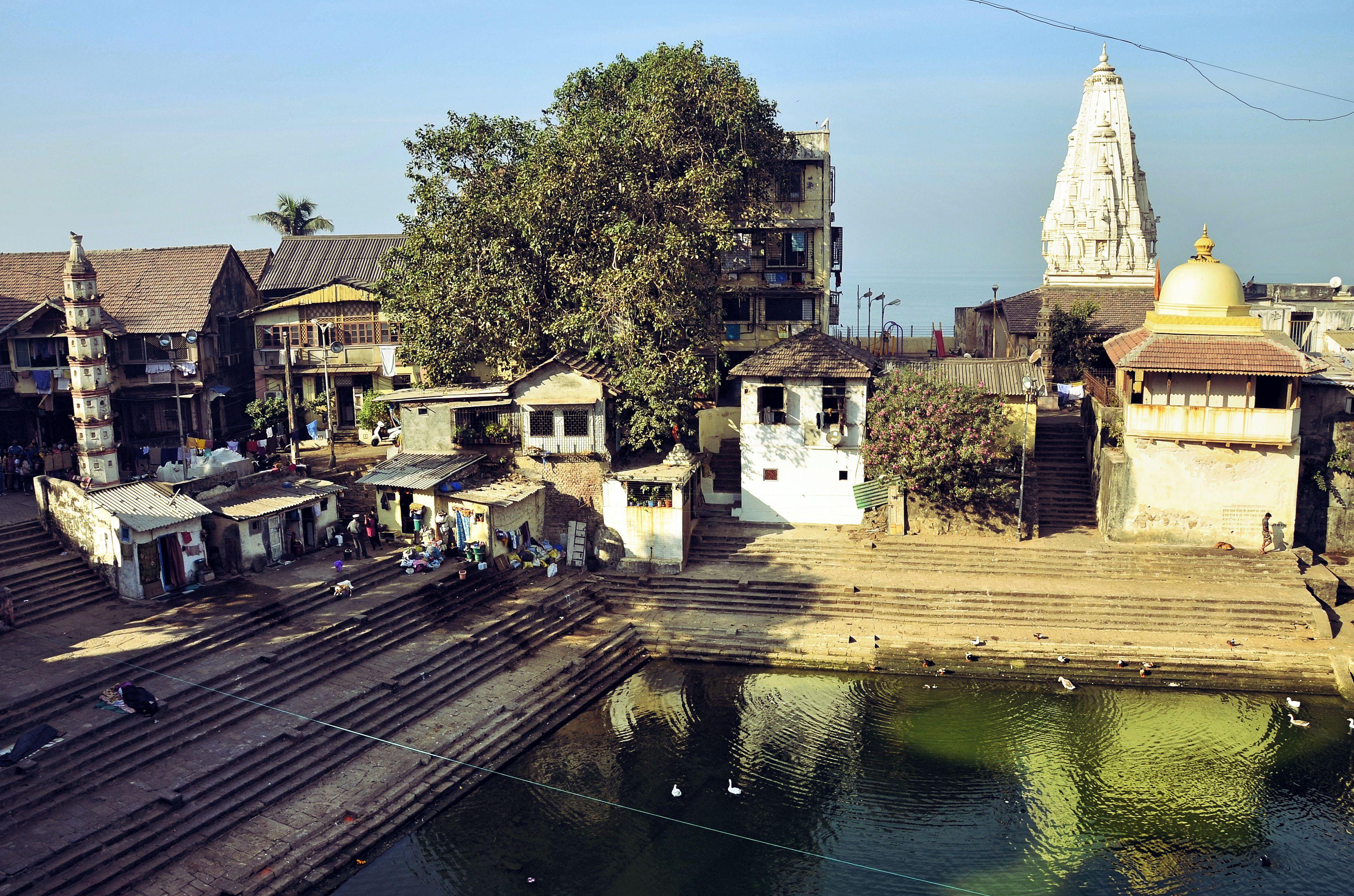 Mit Blick auf Banganga Tank aus Parshuram Tempel.