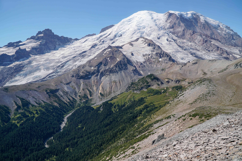 Un nevado en el Monte Rainier