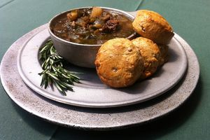 soup and biscuits at City Tavern Restaurant
