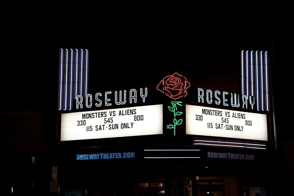 Roseway Theater at Night