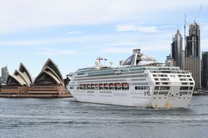 Cruise Ship Departs Sydney As Government Recommends Australians Reconsider Travel