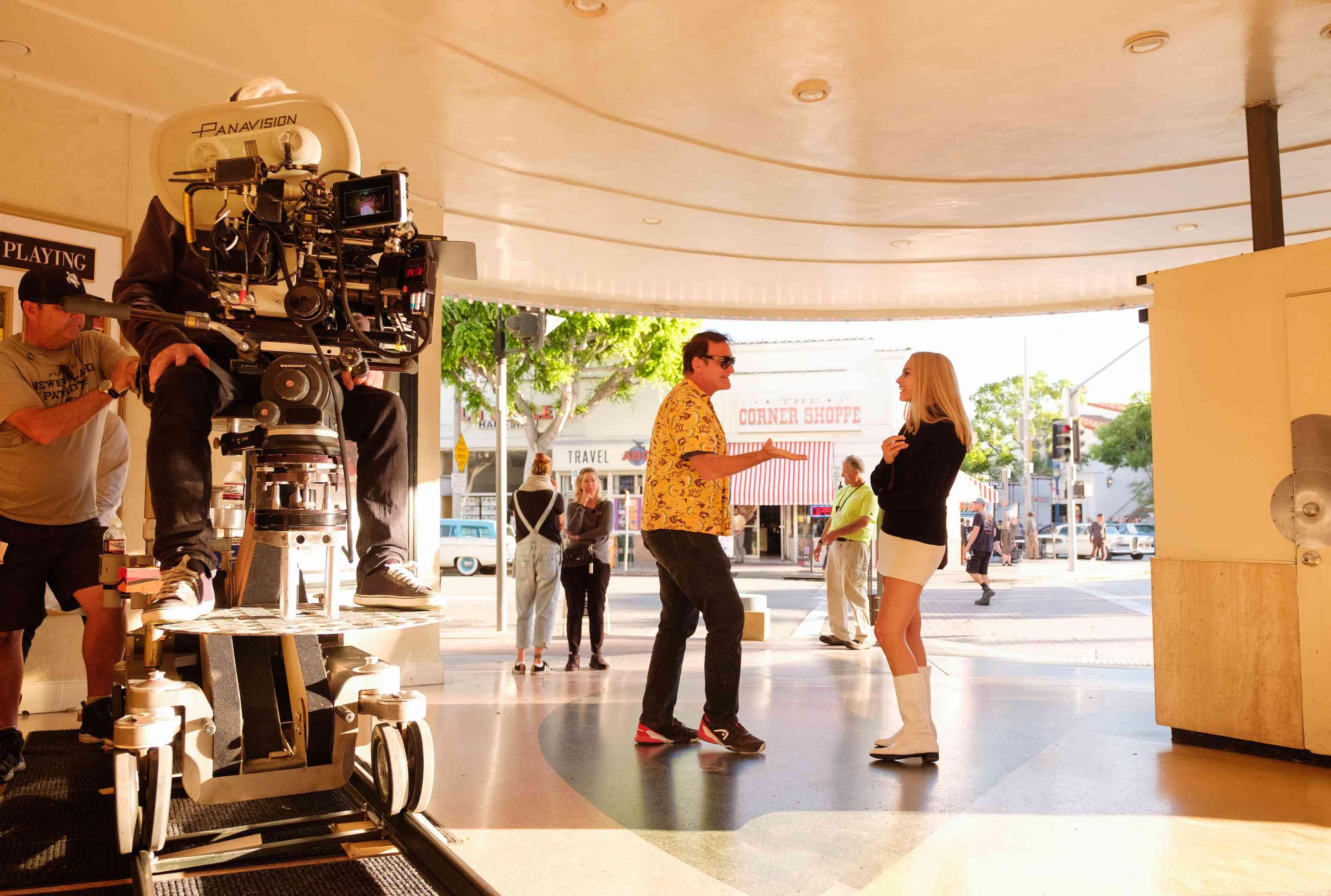 Tarantino and Robbie in Westwood
