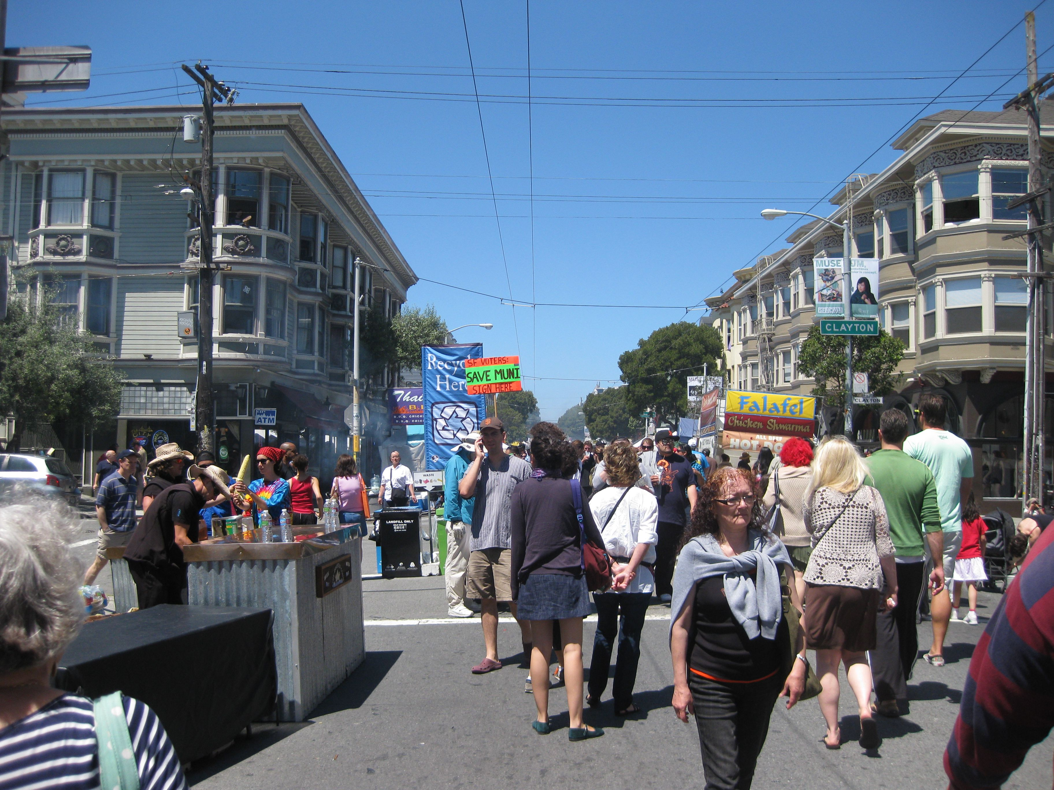 Visitors at the annual Haight-Ashbury festival