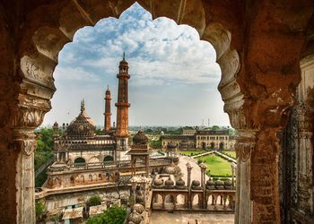 View to Asfi Masjid or Asfi Mosque from Bara Imambara balcony, Lucknow
