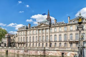The Rohan palace in Strasbourg. France. Europe.