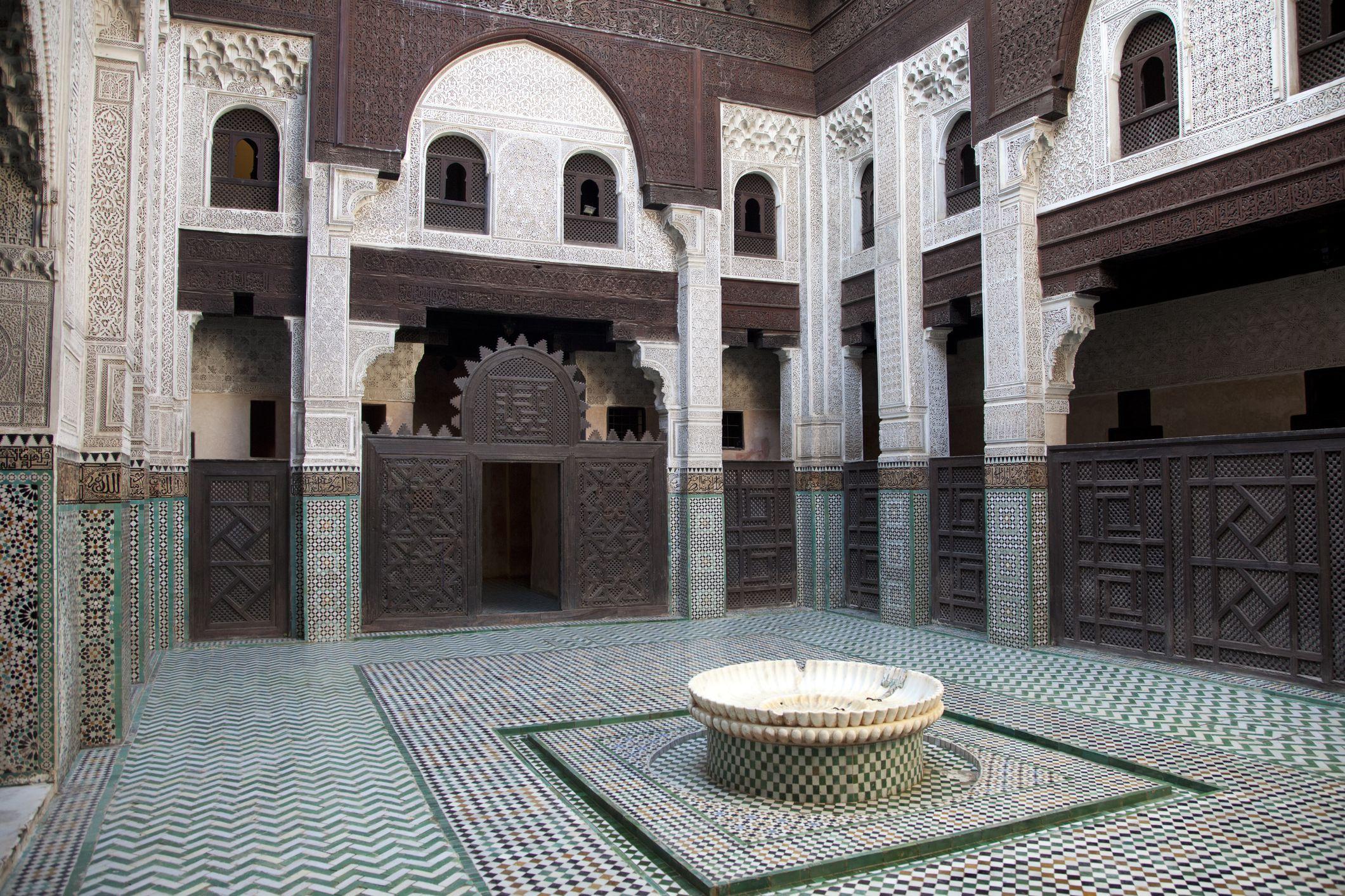 Courtyard of Bou Inania Medersa, Meknes