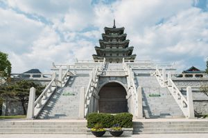 South Korea, Seoul, the National Folk Museum of Korea, inside Gyeongbokgung Palace