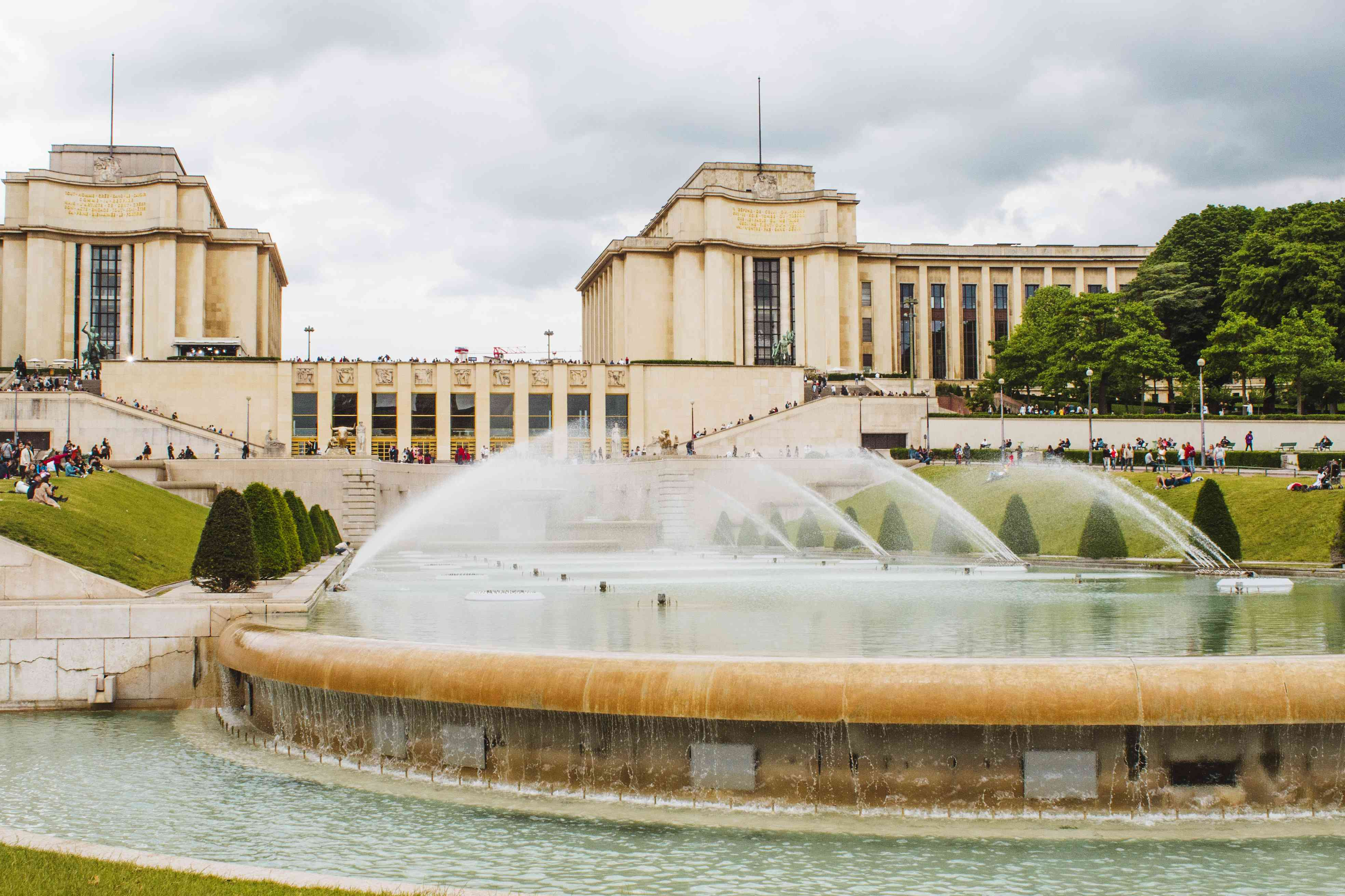 Fountains in Trocadero Gardens