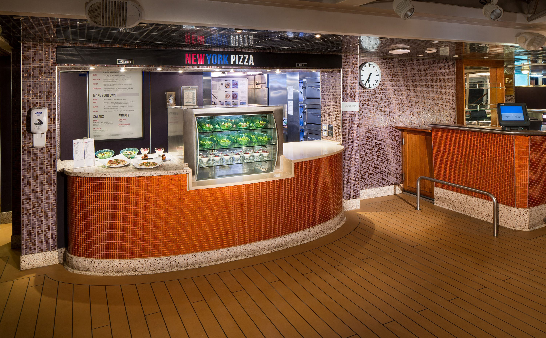 New York Pizza Eatery on the Holland America Eurodam cruise ship