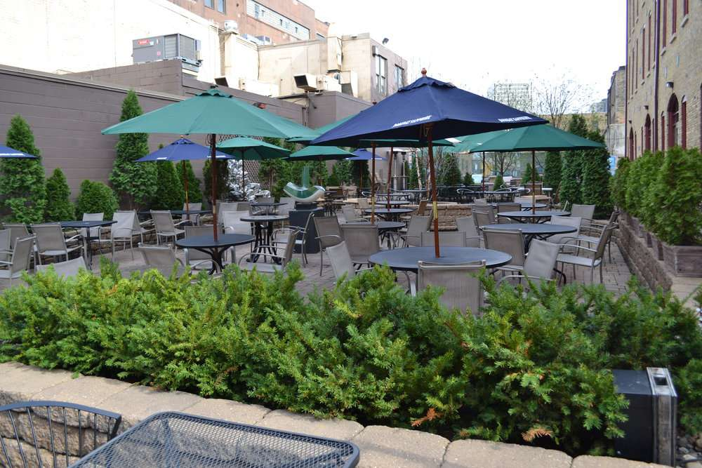 Outside terrace at the Monte Carlo restaurant in Minnesota