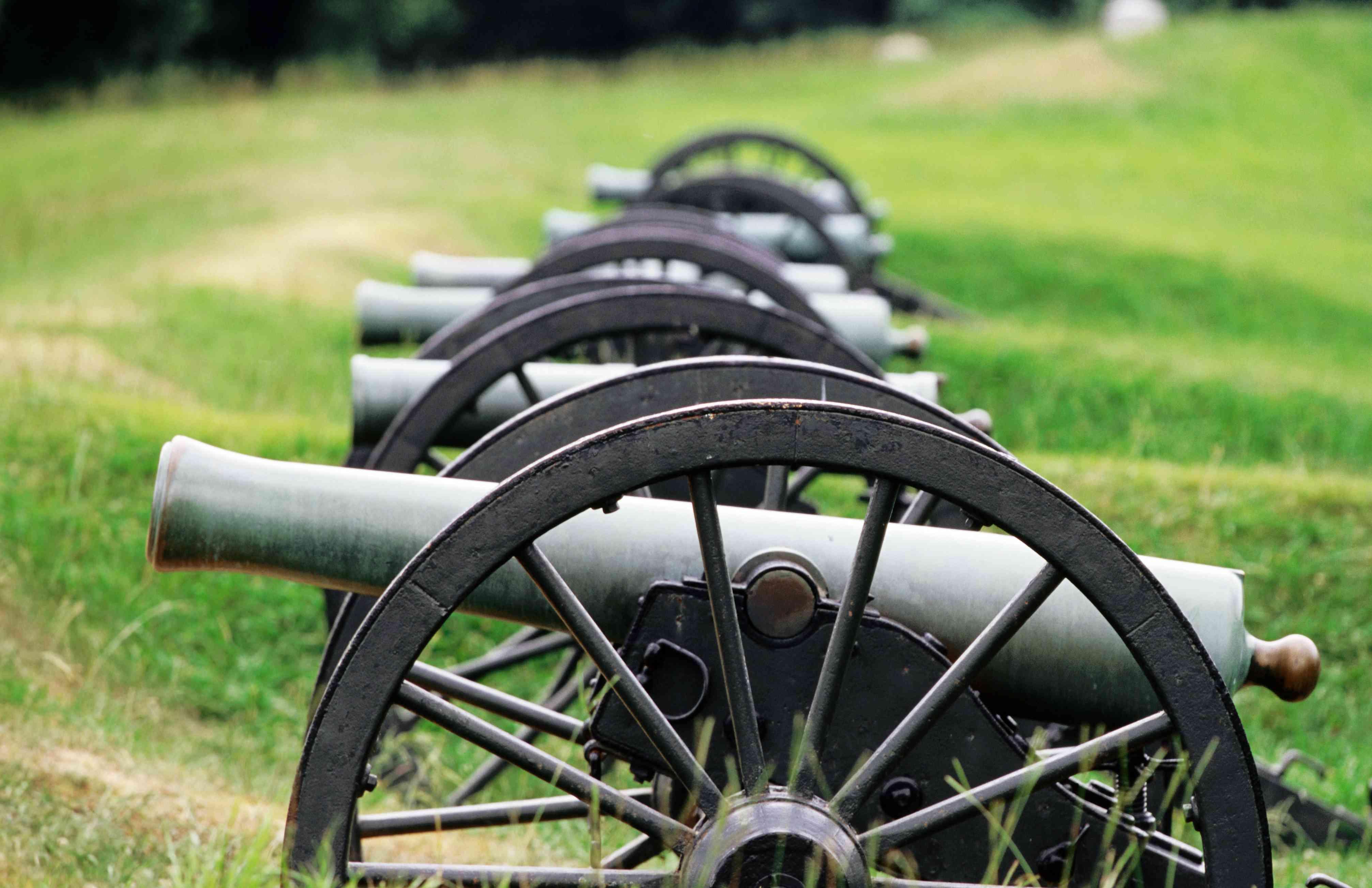 Cannons at Vicksburg National Military Park, Vicksburg, United States of America