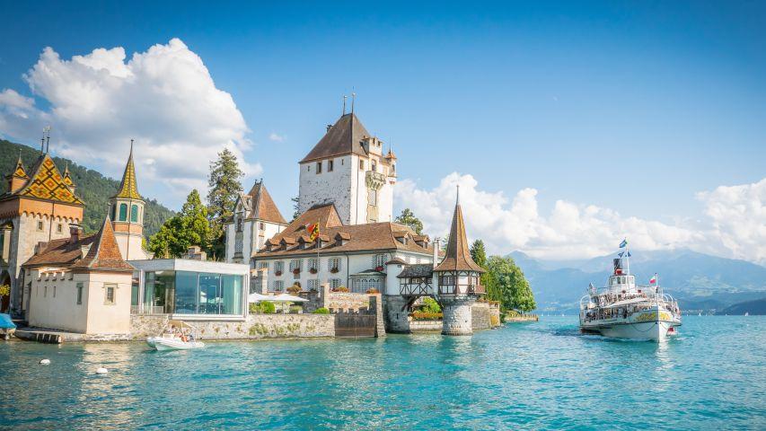 Thun Castle on Lake Thun