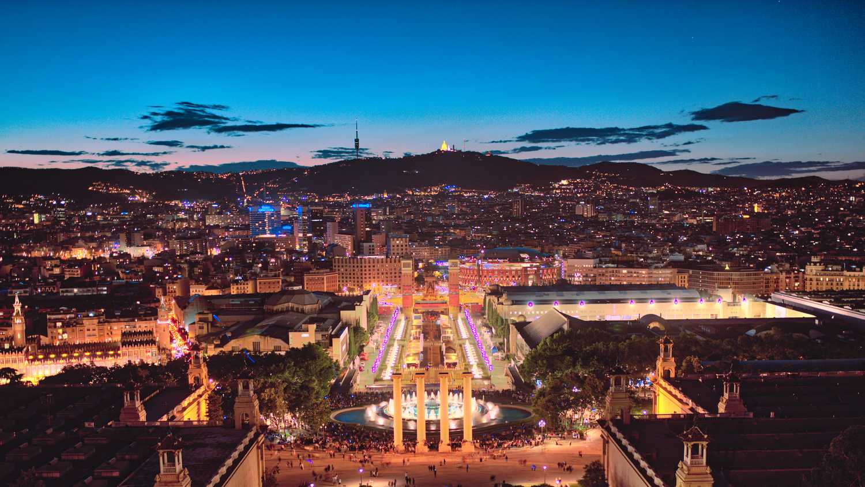 Skyline de Barcelona, España
