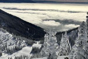 Skiing Views at Whitefish Mountain Resort