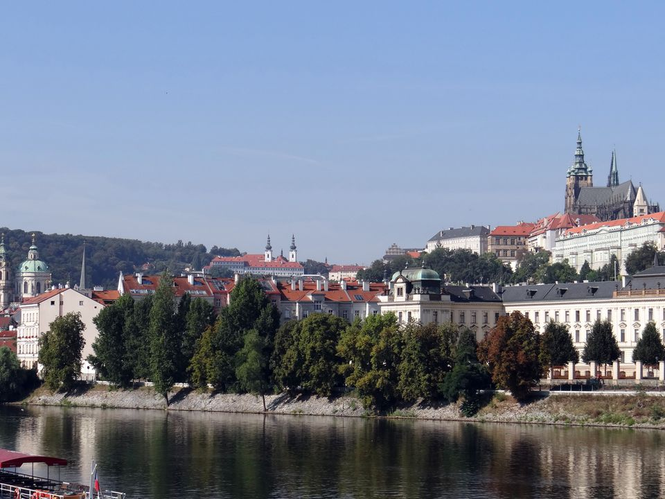 Prague Castle and the Elbe River
