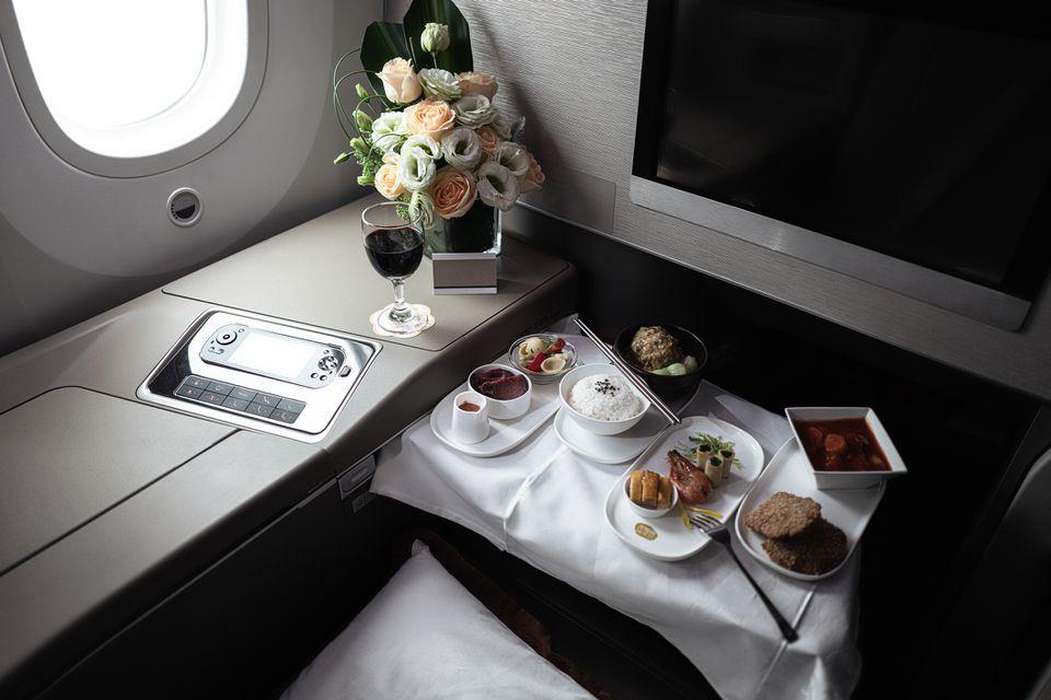 Luxurious seats inside the plane