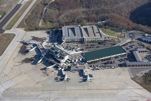 Yeager Airport from above