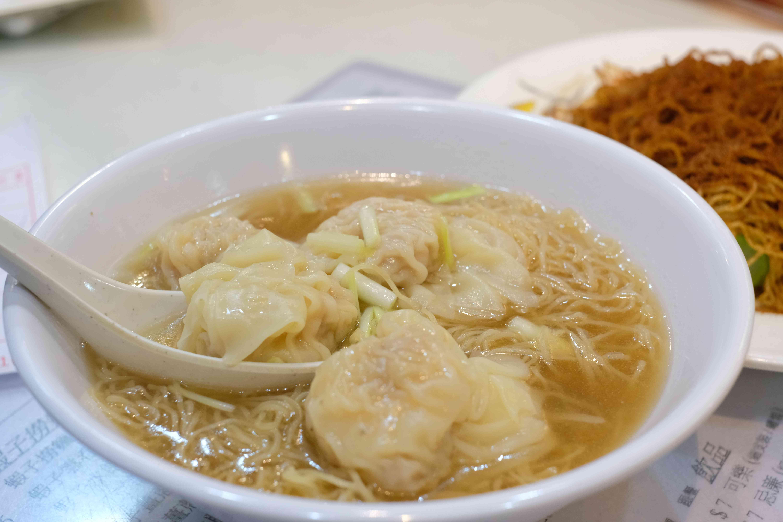 Wonton noodle in restaurant in Hong Kong.