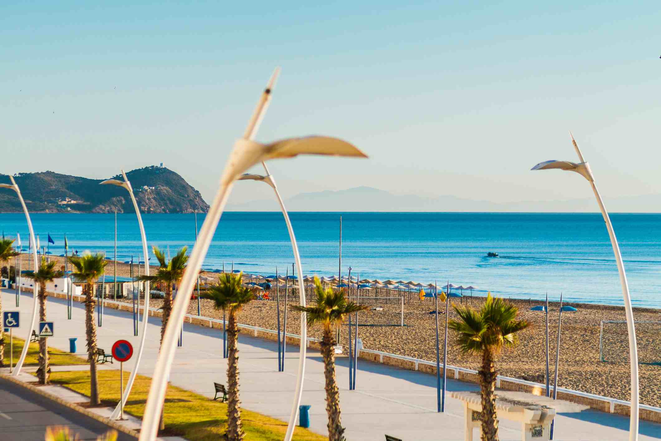 Martil beach and promenade, Morocco