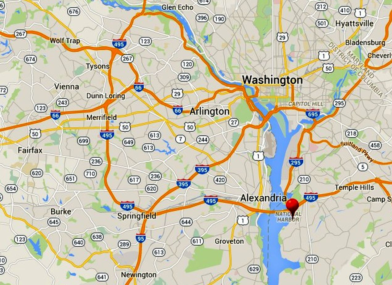 oxon hill maryland map Best Ways To Visit The National Harbor Maryland oxon hill maryland map