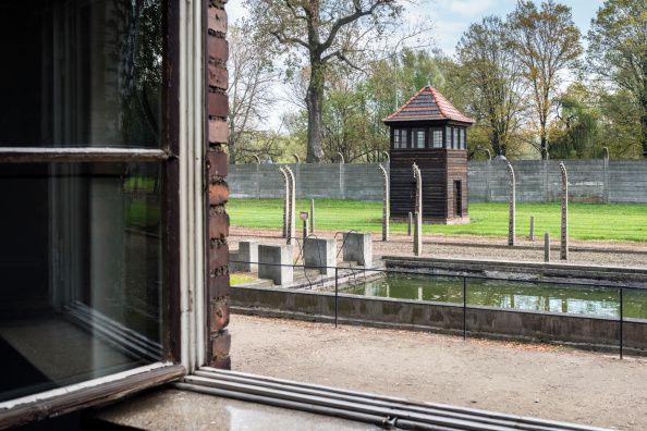 View from a window in Auschwitz Camp II, extermina