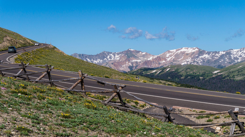 The Trail Ridge Road near the Alpine Visitor Center