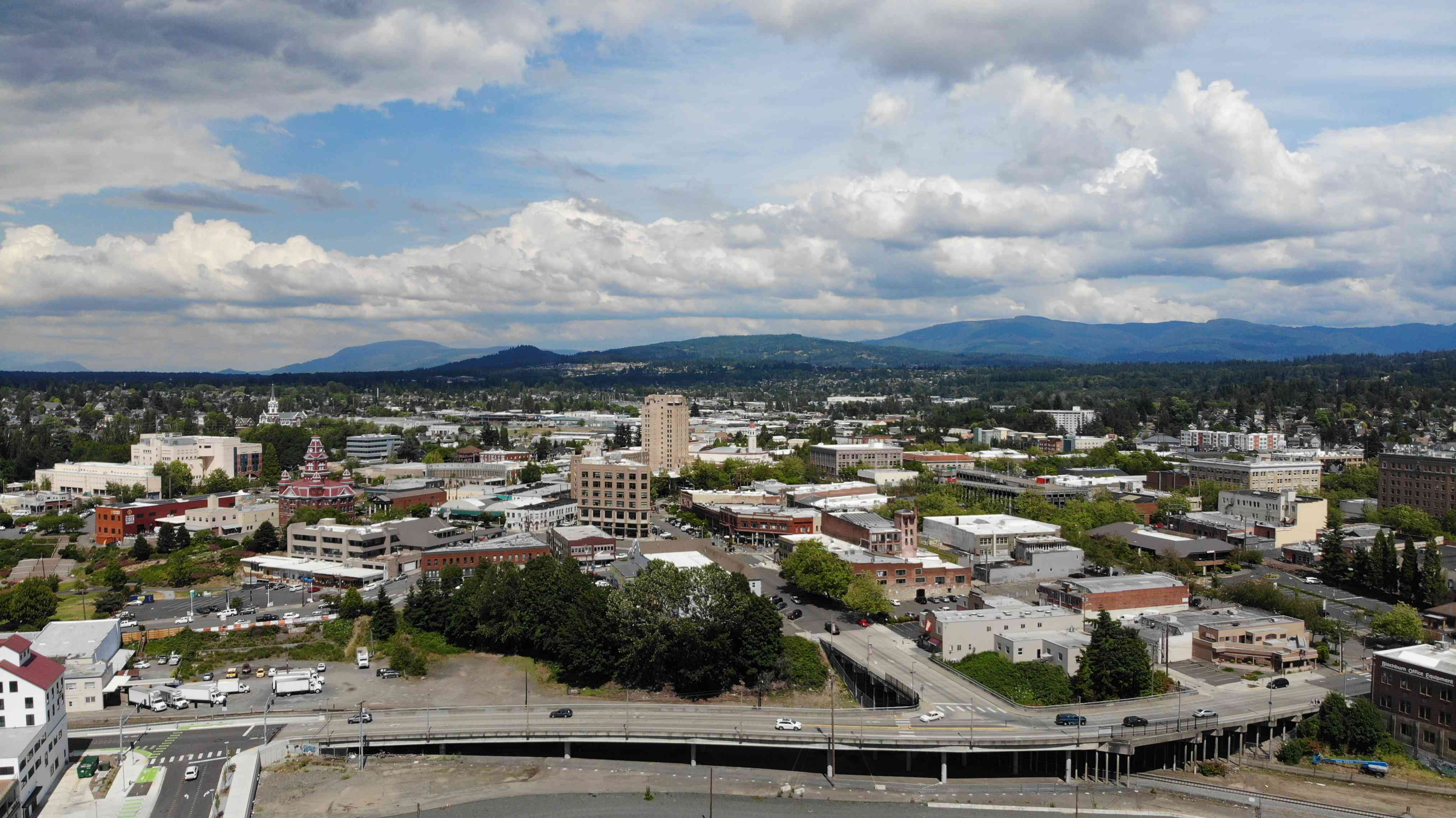 Downtown Bellingham - Drone View