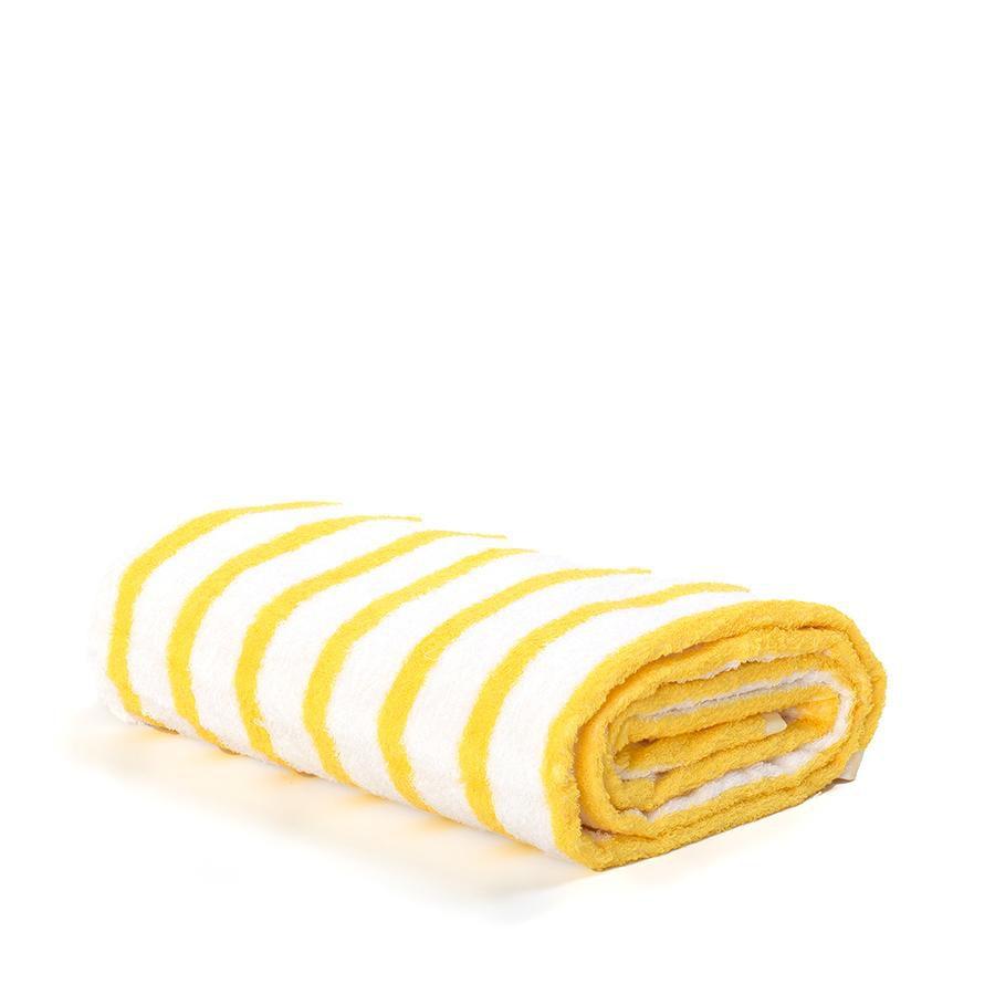 Miami Yellow Striped Beach Towel