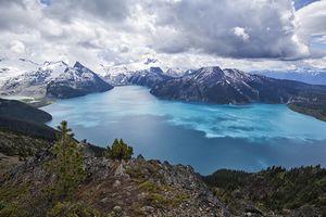 Garibaldi Lake viewed from Panorama Ridge