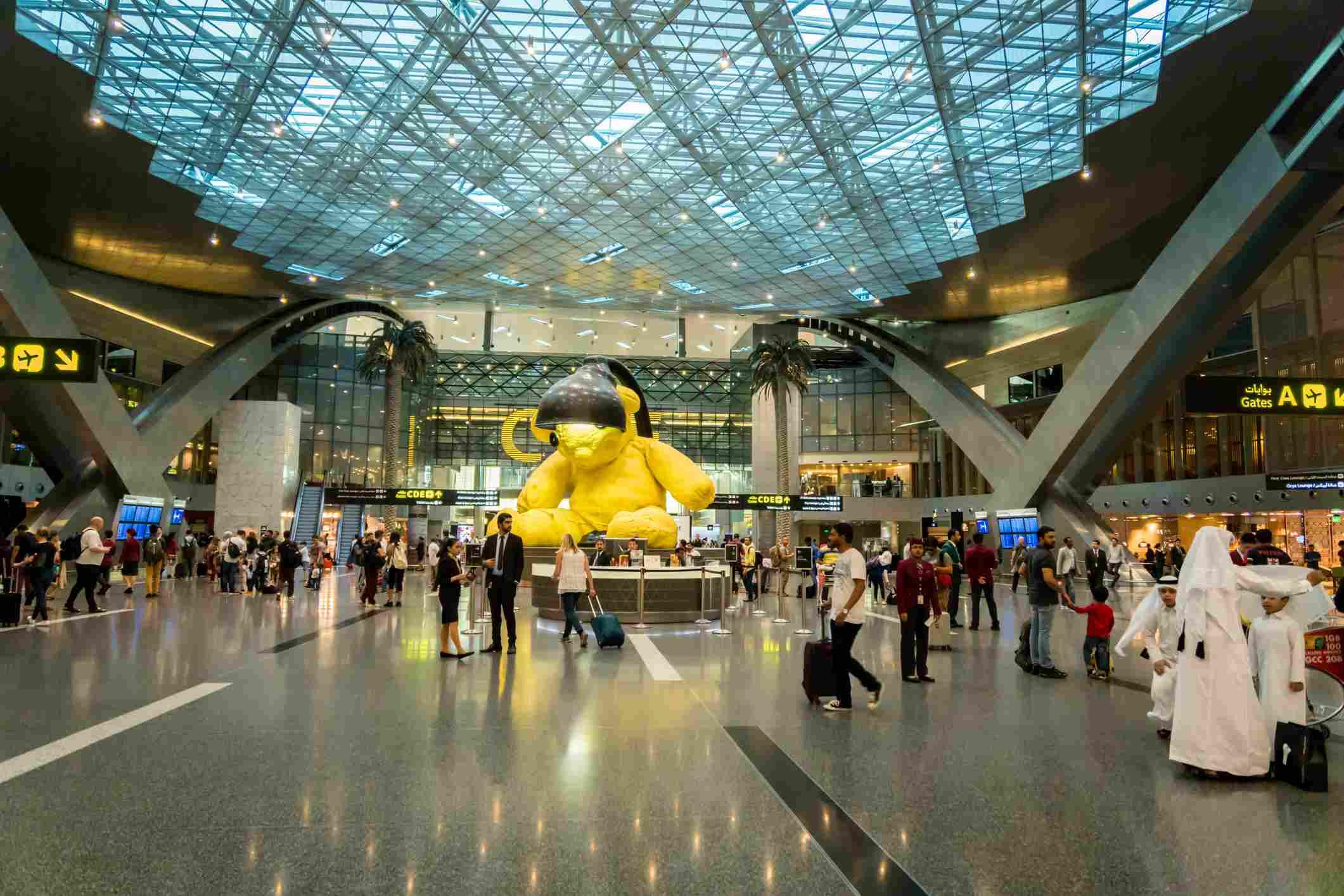 Doha Hamad International Airport, Qatar.