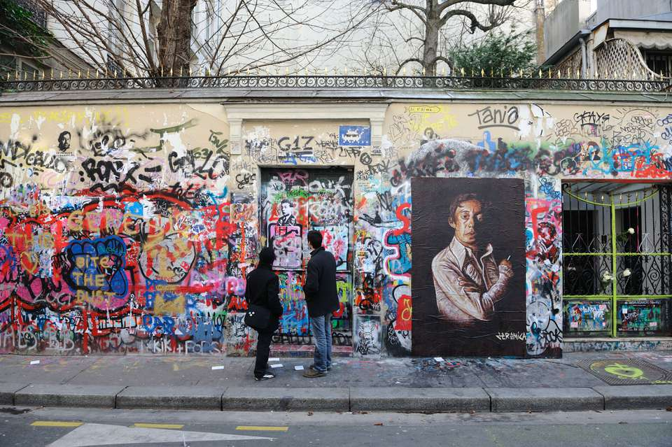 Serge Gainsbourg's former house in Paris