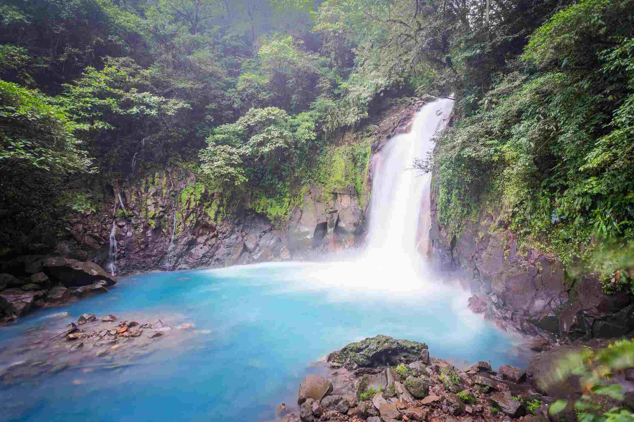 Costa Rica, Rio Celeste Waterfall