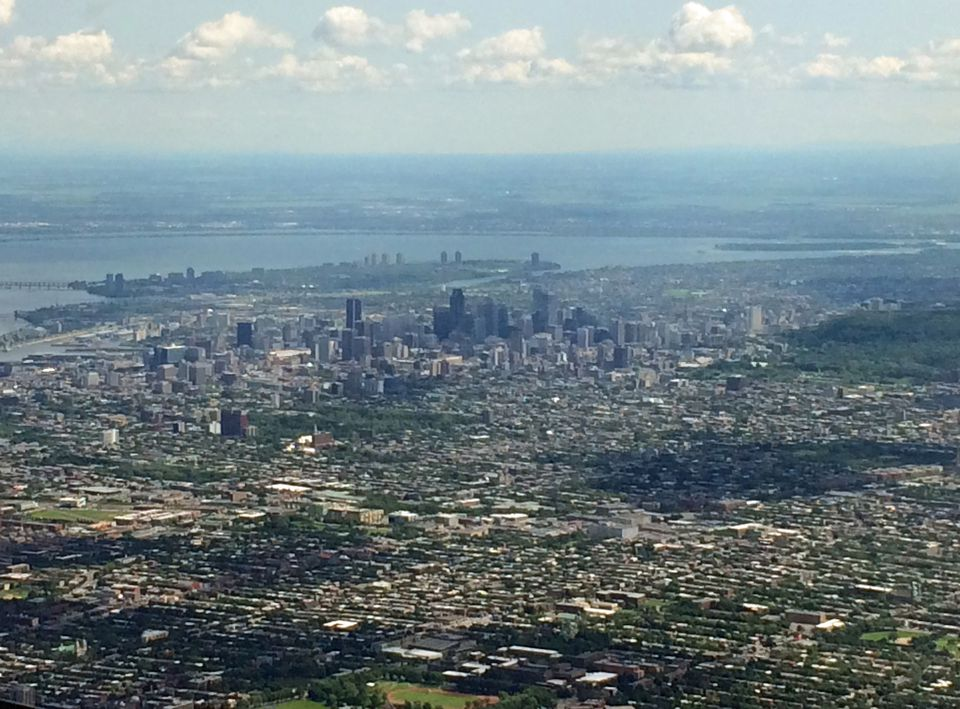 An aerial view of Montreal, Quebec, Canada