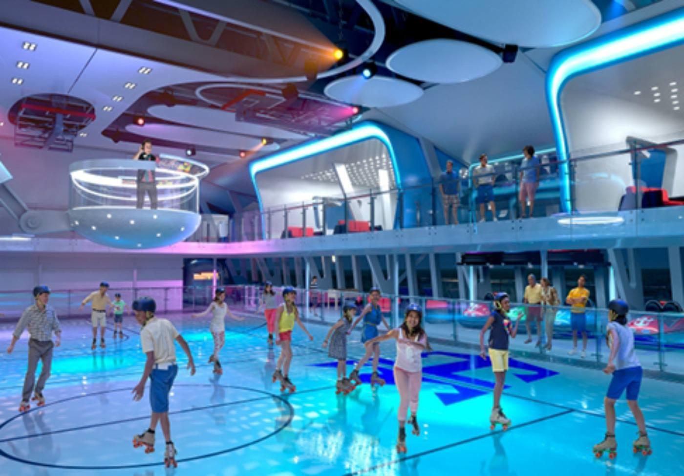 Roller skating in SeaPlex