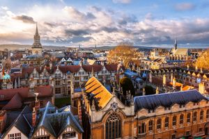 Elevated View of Oxford ENgland