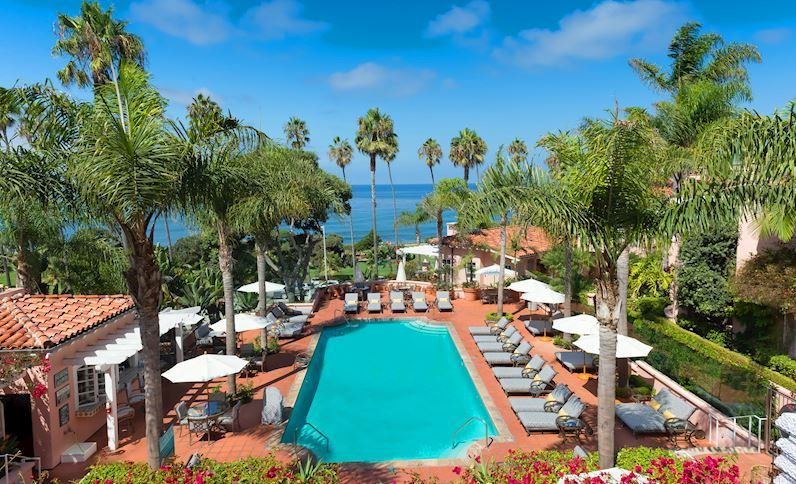 Pool at La Valencia Hotel