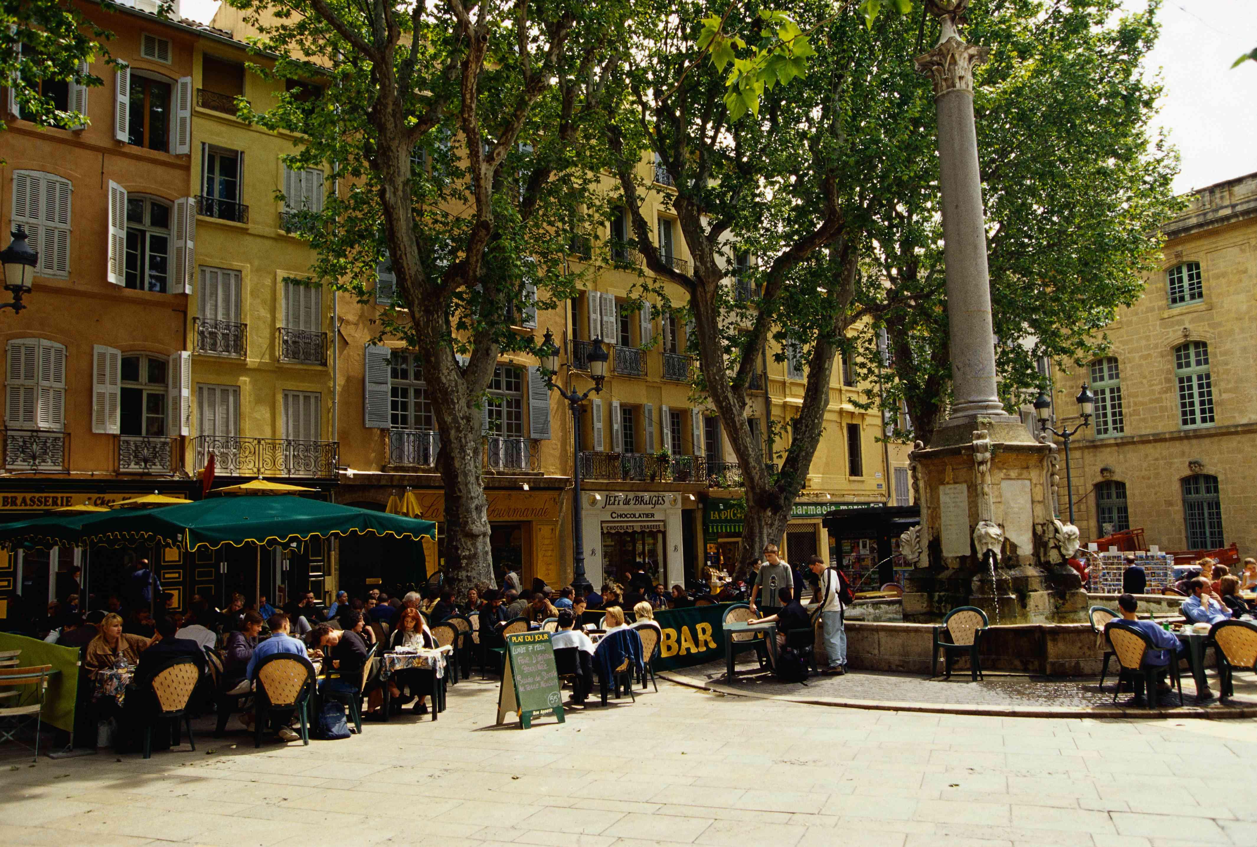 Sidewalk Cafes on the Place de Hotel de Ville