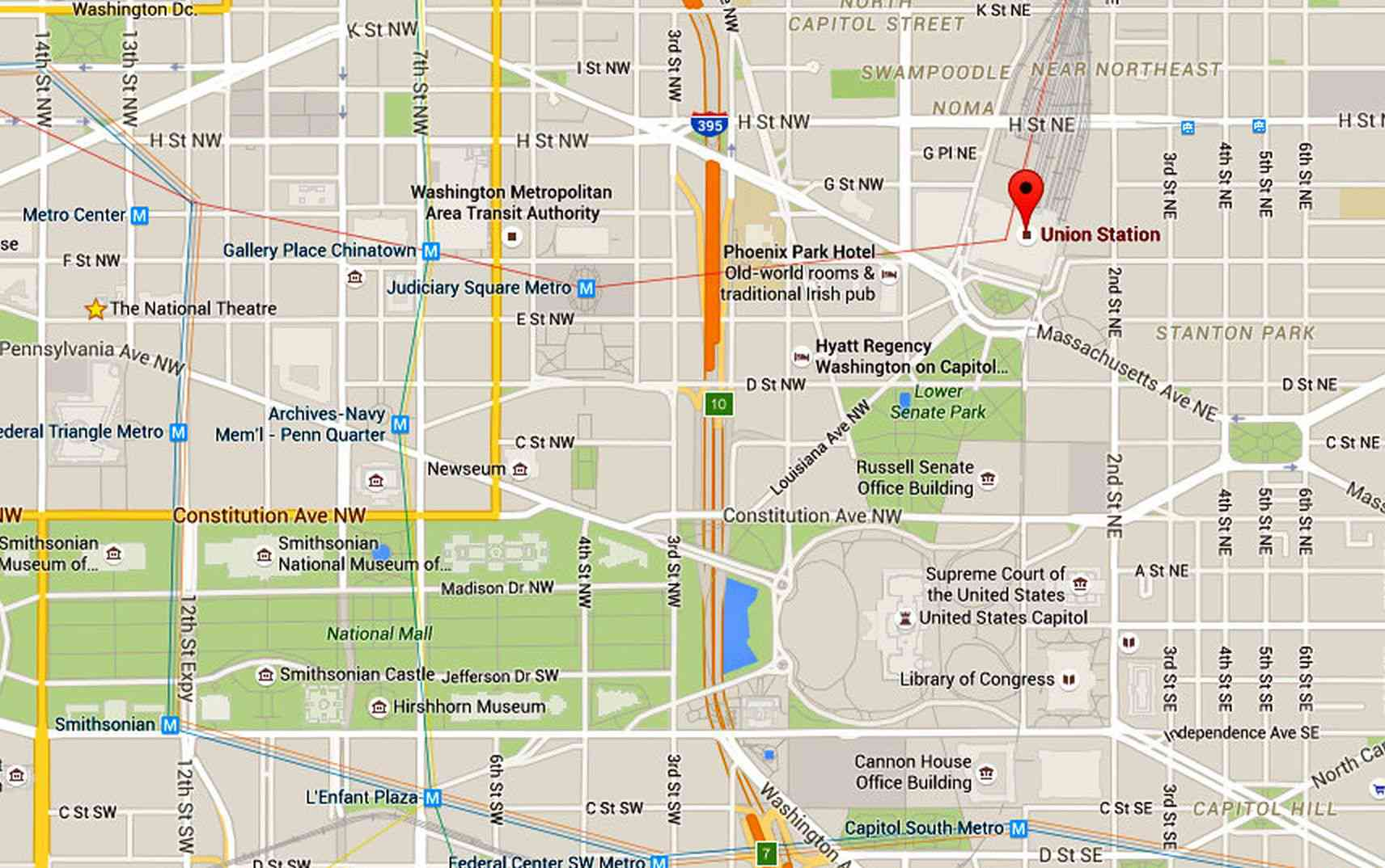 Union Station Map and Directions: Washington DC on