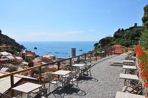The panoramic terrace at Hotel Villa Steno