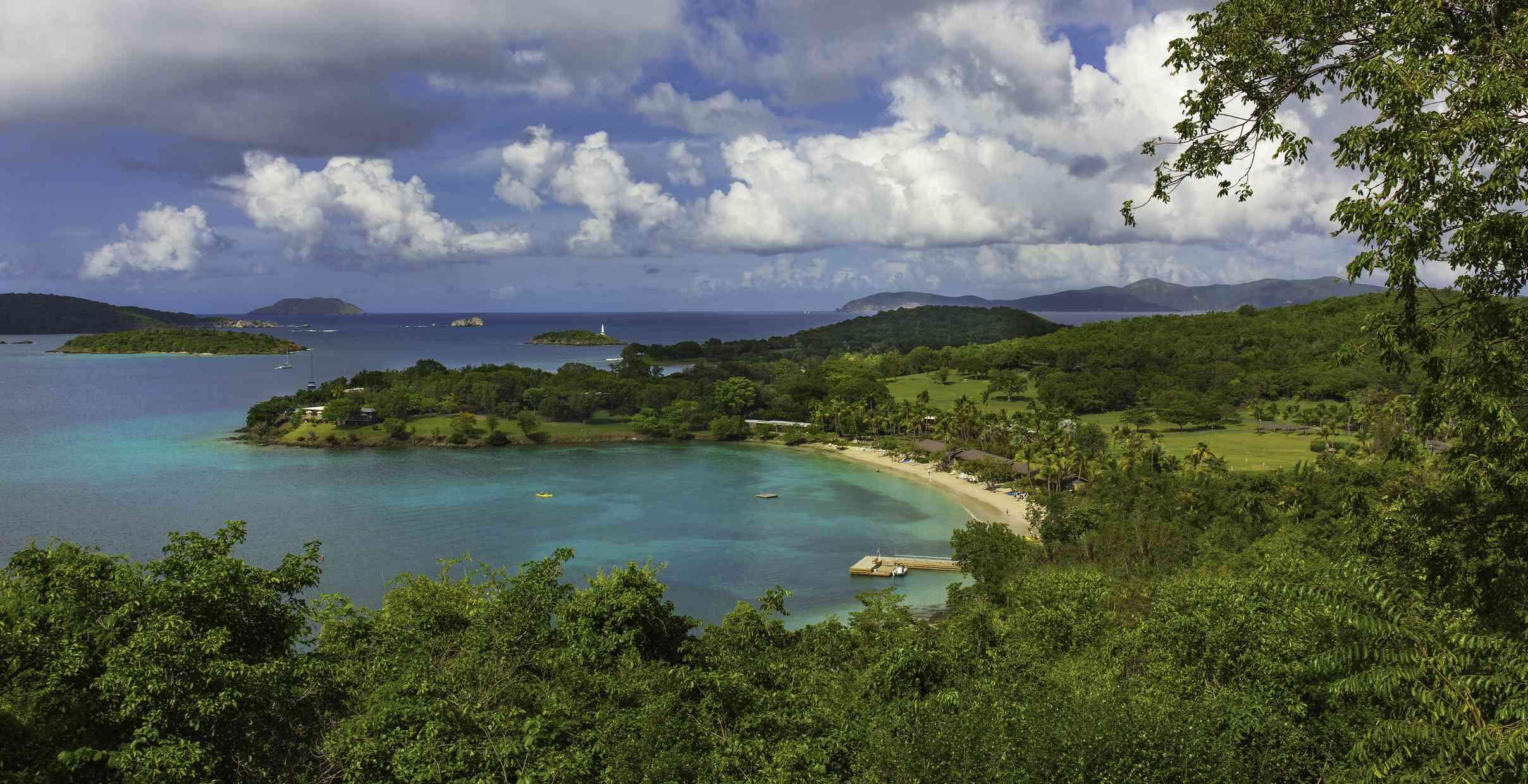 Caneel Bay in Virgin Islands National Park