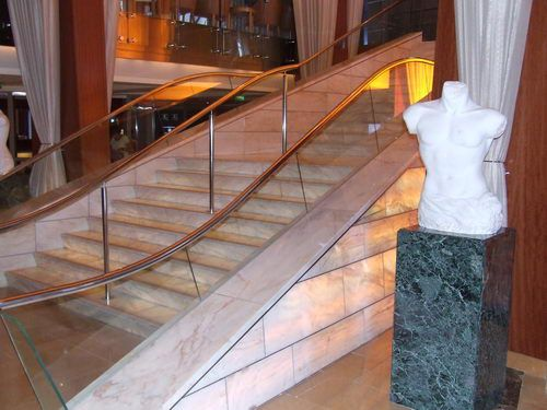 Celebrity Infinity Grand Staircase in the Reception Area
