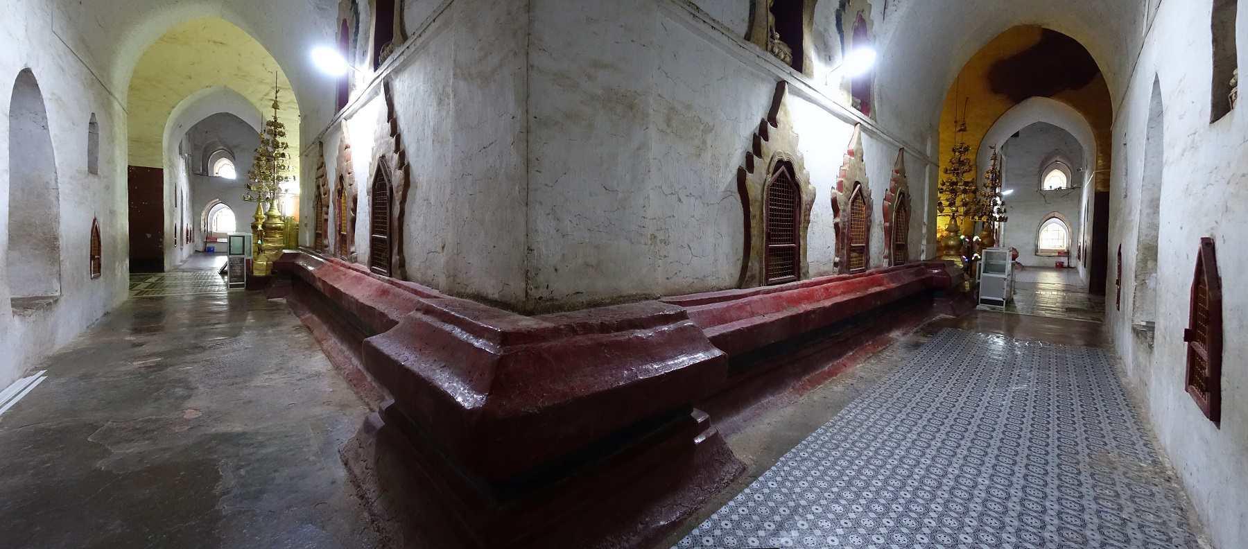 Hallway inside Ananda Temple, Bagan, Myanmar
