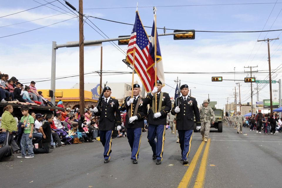 The texas military department celebrates george washington birthday celebration