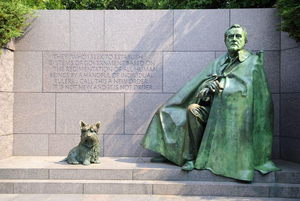 FDR Memorial estatua