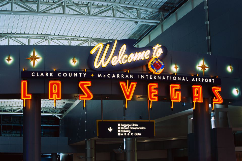 Welcome Sign at McCarran International Airport