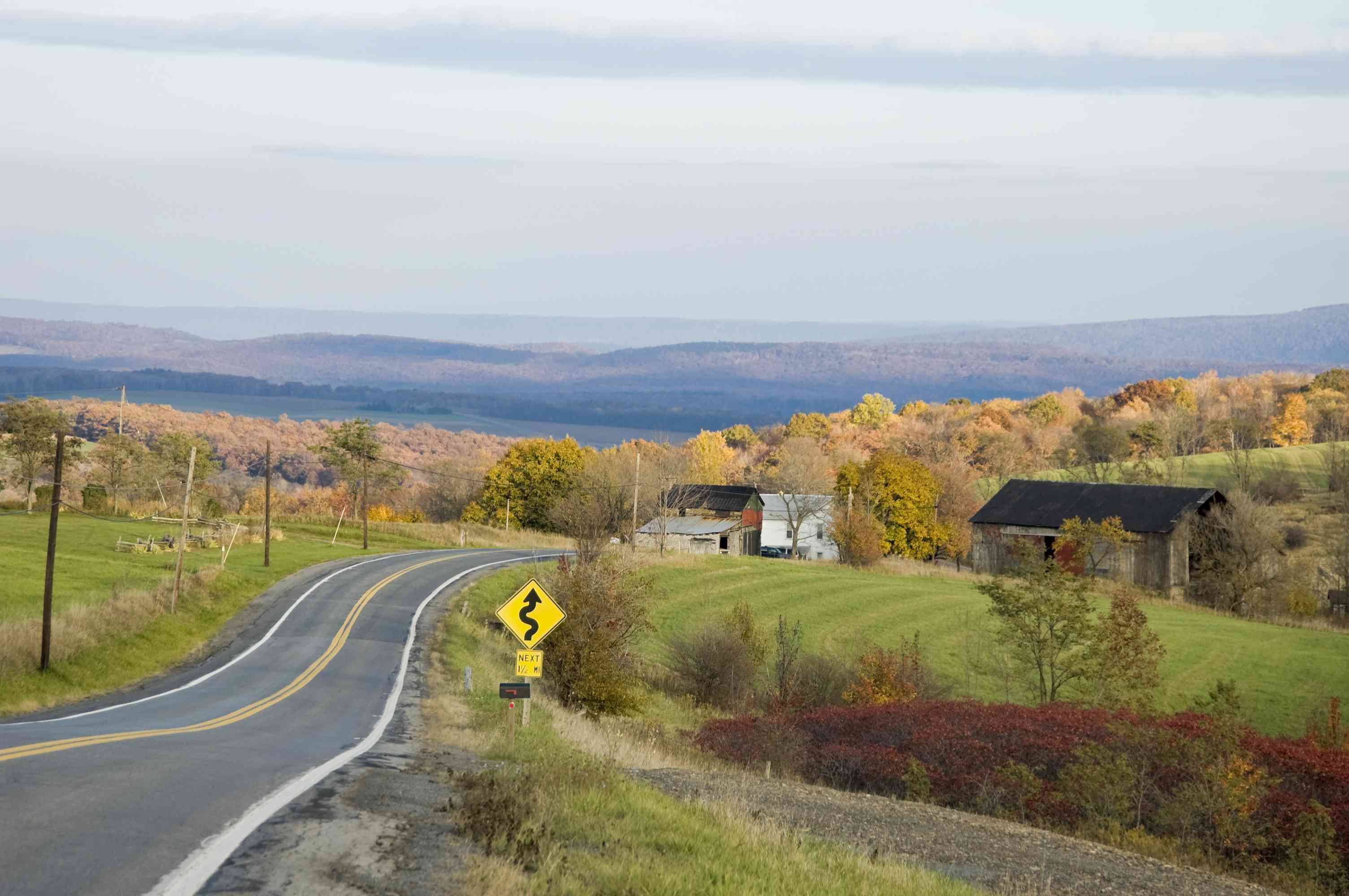 Old Lincoln Highway in Pennsylvania