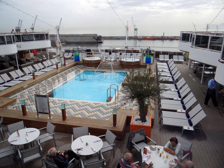 Seaview Pool on the Holland America Koningsdam cruise ship